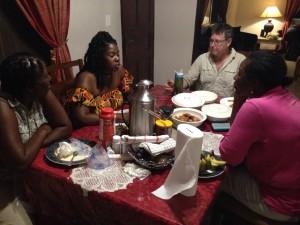 Fellowship at the Kiononia House table